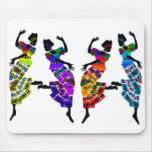 Danza africana del pie alfombrillas de ratones