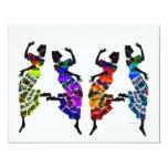 Danza africana del pie comunicados personalizados