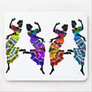 Danza africana del pie tapetes de ratones