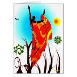 Danza africana del verano tarjetas