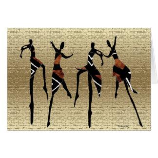 Danza africana Group1 Tarjeta Pequeña