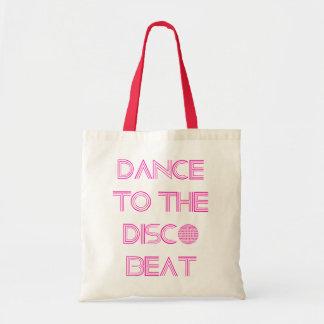 Danza al tote del golpe del disco bolsa tela barata