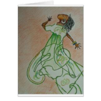 Danza alegre tarjeta de felicitación