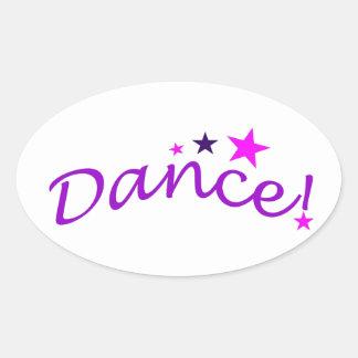 Danza arqueada con las estrellas calcomanías de ovales personalizadas