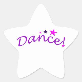 Danza arqueada con las estrellas pegatina en forma de estrella