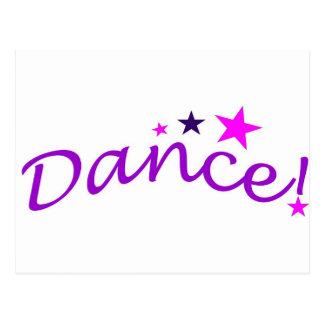 Danza arqueada con las estrellas postales