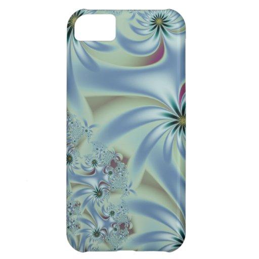 Danza azul de la flor funda para iPhone 5C