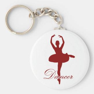 Danza - bailarín 3 llavero redondo tipo pin