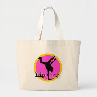 Danza - bolso rosado de Hip Hop Bolsa Tela Grande