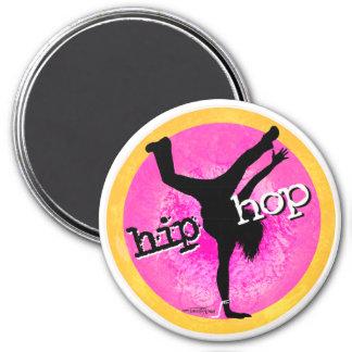 Danza - botón del chica de Hip Hop Imán Redondo 7 Cm