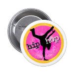 Danza - botón rosado del chica de Hip Hop Pins