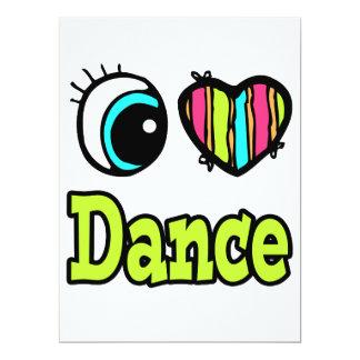 """Danza brillante del amor del corazón I del ojo Invitación 6.5"""" X 8.75"""""""