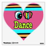Danza brillante del amor del corazón I del ojo Vinilo Decorativo