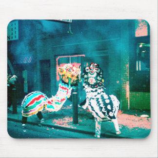 Danza china del dragón del Año Nuevo Tapetes De Raton