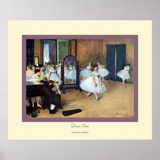 Danza Class~ Edgar Degas Póster
