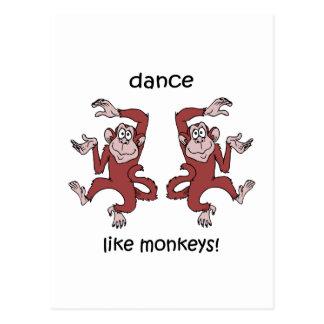¡Danza como monos! Tarjeta Postal