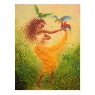 Danza con la postal de los loros
