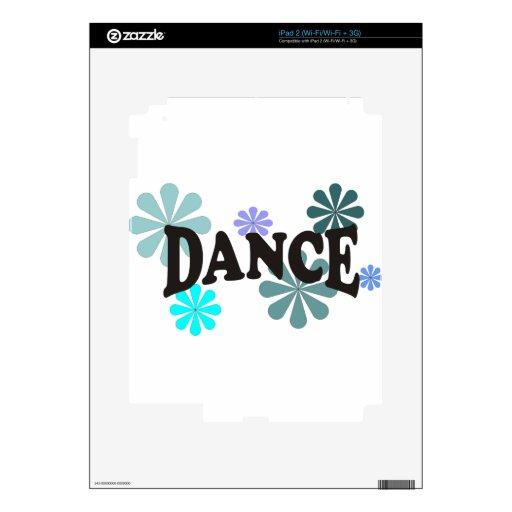 Danza con las flores azules skins para eliPad 2