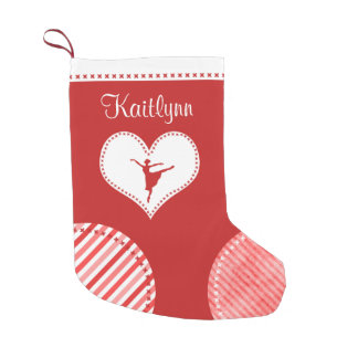 Danza con monograma de los remiendos del navidad calcetín de navidad pequeño