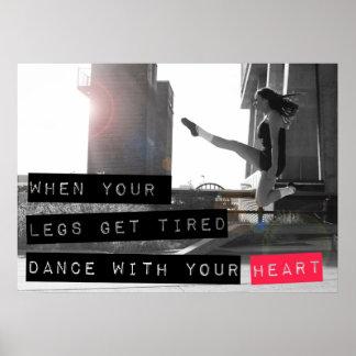 Danza con su poster de Ceili Moore del corazón Póster