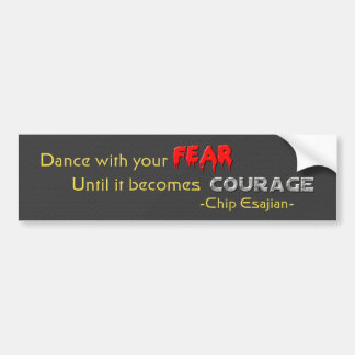 Danza con sus miedos pegatina de parachoque