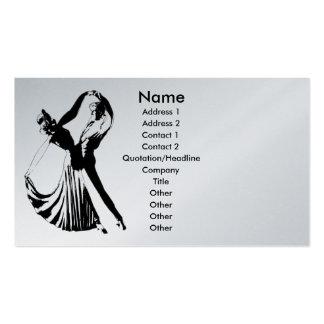 Danza conmigo plantilla de la tarjeta del perfil tarjetas de visita