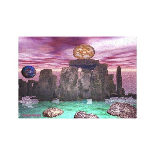 Danza cósmica 3 impresión en lona estirada