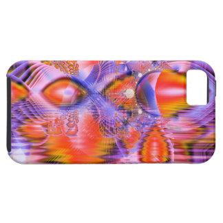 Danza cristalina de la estrella, naranja púrpura a iPhone 5 protector