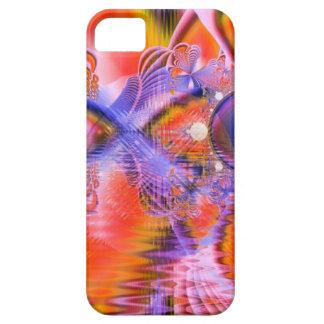 Danza cristalina de la estrella, naranja púrpura a iPhone 5 Case-Mate funda