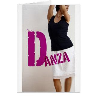 Danza : dance card