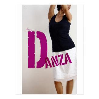 Danza : dance postcard