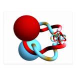 Danza de acoplamiento de las esferas de cuernos de postal
