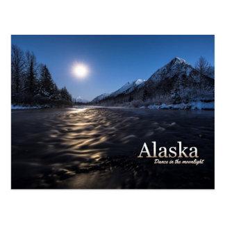 Danza de Alaska en el claro de luna Postales