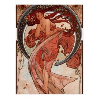Danza de Alfons Mucha Tarjetas Postales