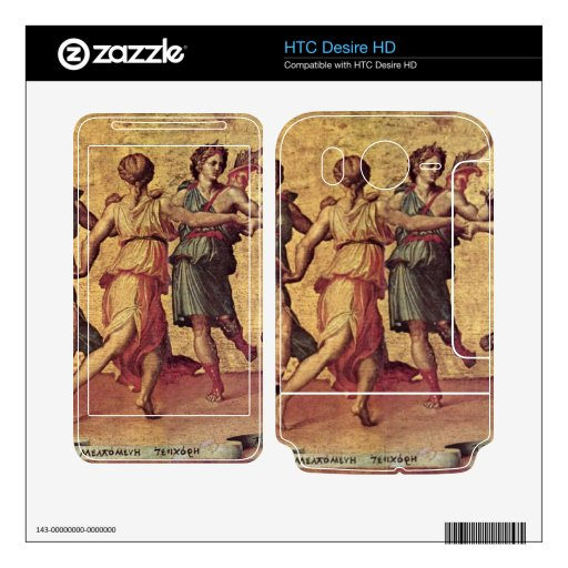 Danza de Apolo con las musas de Giulio Romano HTC Desire HD Calcomanías