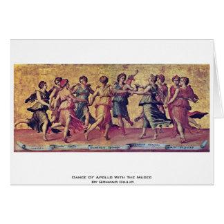 Danza de Apolo con las musas por el romano Julio Tarjeta De Felicitación