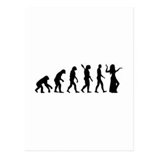 Danza de Belly de la evolución Postales