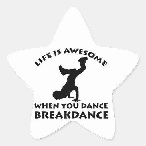 Danza de Breakdance Calcomania Forma De Estrella