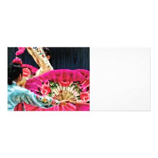 Danza de fan coreana tradicional lona publicitaria