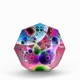 Danza de Globs V placa del premio de 2 octágonos