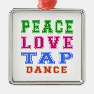 Danza de golpecito del amor de la paz adorno