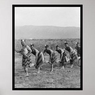 Danza de guerra maorí 1917 posters