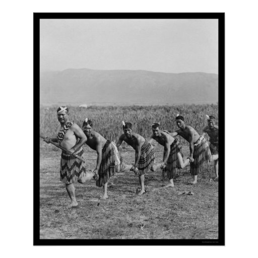 Danza de guerra maorí 1917 póster