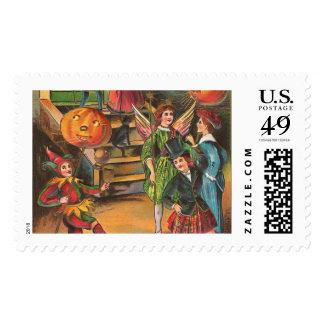 Danza de Halloween del vintage Estampilla