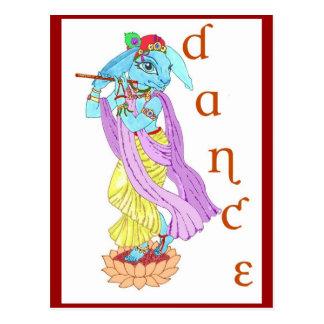 Danza de Krishna de las liebres Postal