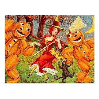 Danza de la bruja de Halloween del vintage del KRW Postal