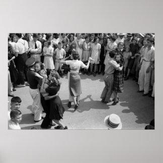 Danza de la calle, Crowley, Luisiana, los años 30 Posters