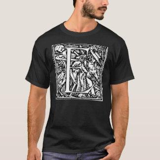 Danza de la camisa de la letra E de muerte