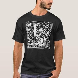 Danza de la camisa de la letra F de muerte
