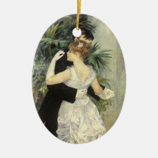 Danza de la ciudad de Pedro Renoir, bella arte del Adorno Navideño Ovalado De Cerámica